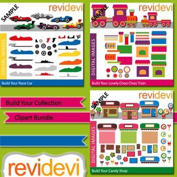 Build your collection clip art bundle (3 packs)