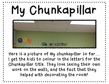 Build your own Chunkapillar! ~Teaching Spelling Patterns in Your Class~