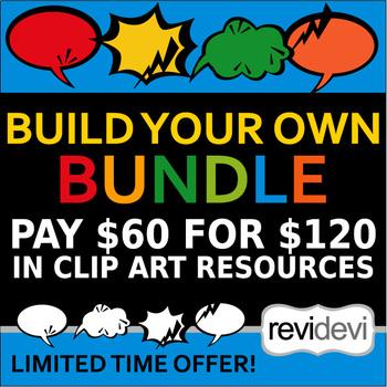 Build your own bundle – Choose your favorite clip art resources – Half price