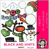 Melonheadz: Build your own frosty clip art - BLACK AND WHITE