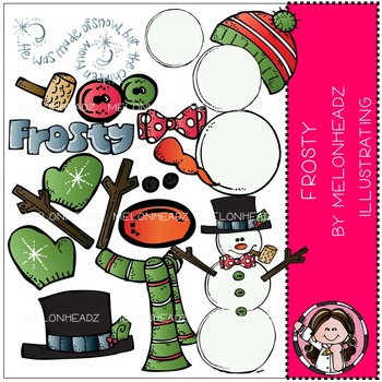 Melonheadz: Build your own frosty clip art - COMBO PACK