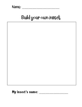Build your own insect