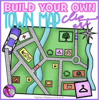 Make Your Own Map Build your own town map clip art by Teachers Resource Force   TpT Make Your Own Map