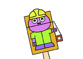Builder Bag Hand Puppet (Occupations)