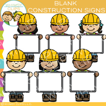 Blank Sign Builders Clip Art