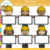 Blank Signs Builders Clip Art - Set Two