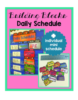 Glittery Building Blocks Daily Schedule