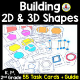 Building 2D and 3D Shapes Task Cards