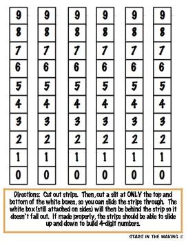 Building 4-digit Numbers Sliders