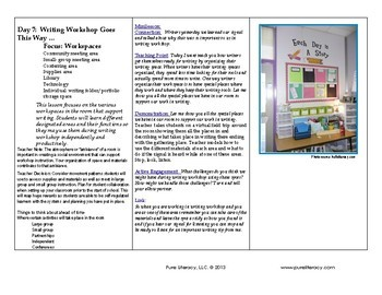 Building A Community of Writers K-2: Procedural Writing Workshop Mini-Lessons