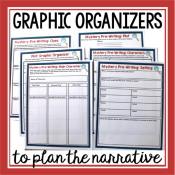 MYSTERY WRITING PRESENTATION & GRAPHIC ORGANIZERS