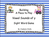 Building A Place to Play Vowel Sounds of 'y' Sight Word Game