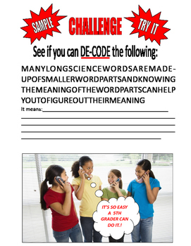 CRACK THE CODE . . . DECODE LONG SCIENCE WORDS . . . LEARN SKILLS  for SAT