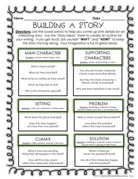 Building A Story - Creative Writing Outline