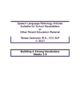 The School Newsletter: 10 tips to building a strong vocabulary