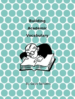 Building Academic Vocabulary Week One