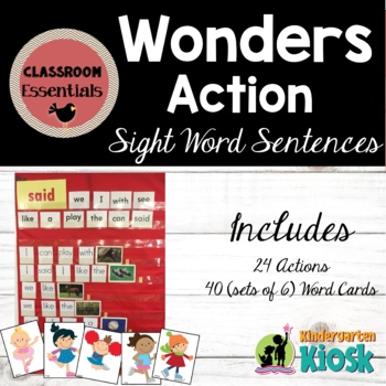 "Building ""Action"" Sight Word Sentences"