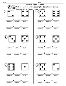 Building Addition Fluency with Dice