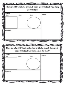Addition Fluency Unit with Storyboards, Pictures and Number Lines