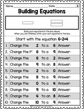 Building Addition and Subtraction Equations