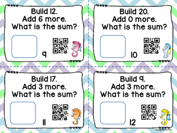 Building Addition with Unifix Cubes and QR