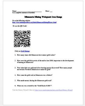 Minnesota Mining Webquest: Iron Range