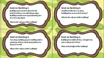 Building Analysis Volume Task Cards (Boot Camp)