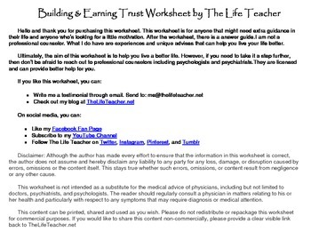 Building And Earning Trust Worksheet