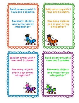Building Arrays Task Cards
