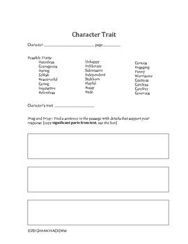 Building Author's Claims, Vocab, and Char. traits with Drag & Drop Technique