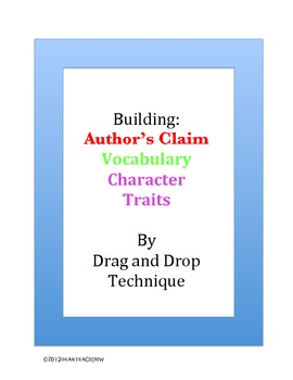 Building Author's Claims, Vocab, and Char. traits with Dra