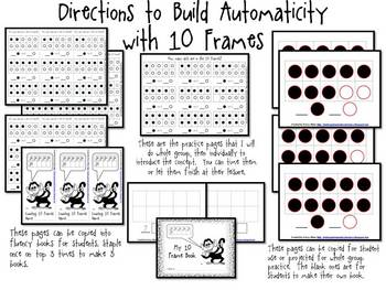 Building Automaticity With Ten Frames Kindergarten Mini Unit