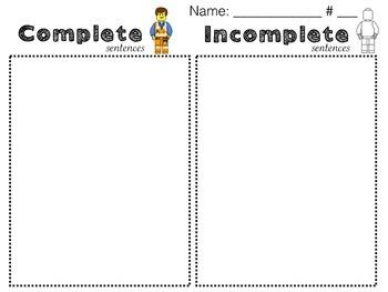 Building Awesome Sentences: Building Block Theme
