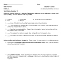 Building Background for Geography - Test and Review Guide