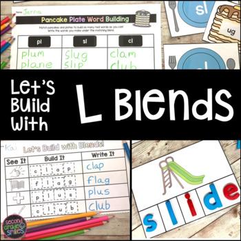 L Blends Word Work: sl, cl, pl, gl, fl, bl
