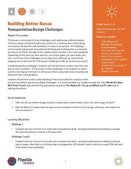 Building Better Buses: Transportation Design Challenges