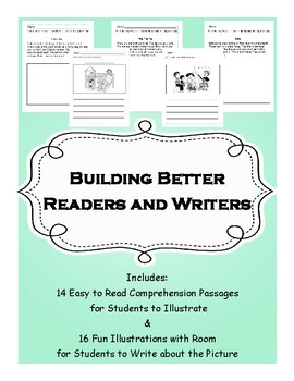 Building Better Readers & Writers- No-Prep Pack (Comprehension & Story Prompts)
