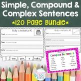 Simple, Compound and Complex Sentences **BUNDLE**