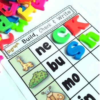 Blends & Digraphs {Magnetic Letter Center}