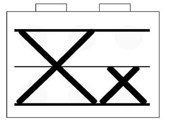 Building Block Alphabet Line