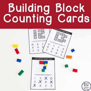 Building Block Counting Cards {1-20 ~ Colour Only}
