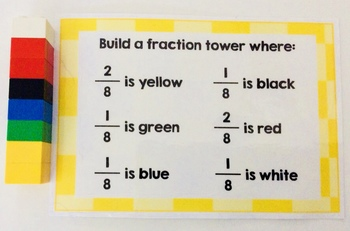 Building Block Fraction Cards