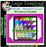 Building Block Lego Inspired Frames Set 3 - Commercial Use