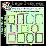 Building Block Lego Inspired Frames Set 5 - Commercial Use