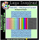 Building Block Lego Inspired Paper Set 2 - Commercial Use