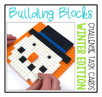 Building Block Task Cards - Winter Edition