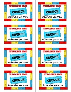 Building Bricks Testing Treat Labels: Full Color and Ink Saving Options