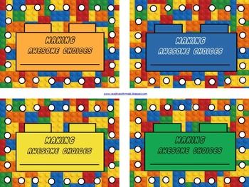 """Building Blocks"" Behavior Management System {Editable File Included}"