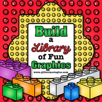 Building Blocks Clip Art {Measurement Tools for Math Center Activities & STEM}