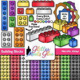 Building Blocks Clip Art {Measurement Tools for Math Center Activities & STEM}